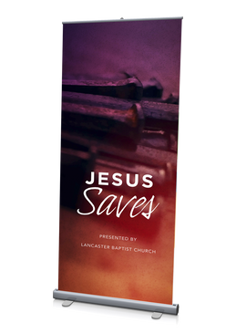 Jesus Saves Banner 3'x6.5'