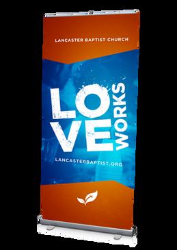 Love Works Banner 3'x6.5'