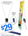 "24""x72"" Tripod Banner Display Stand"