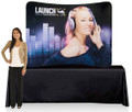 6ft. Curved Table Top Fabrilyte Tubular Display