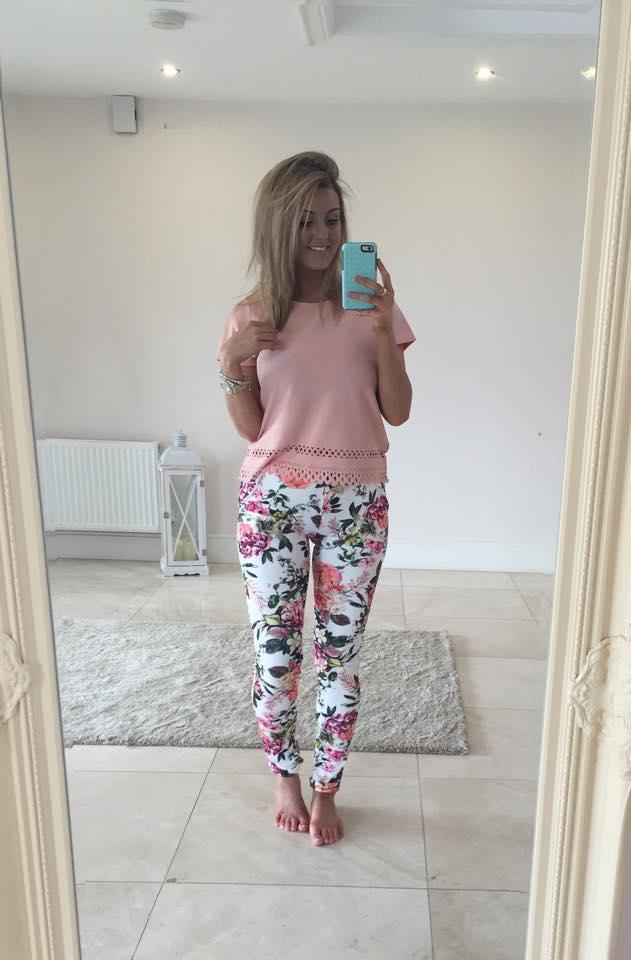Sandra Floral Print Pants Trousers Buy Online Ireland