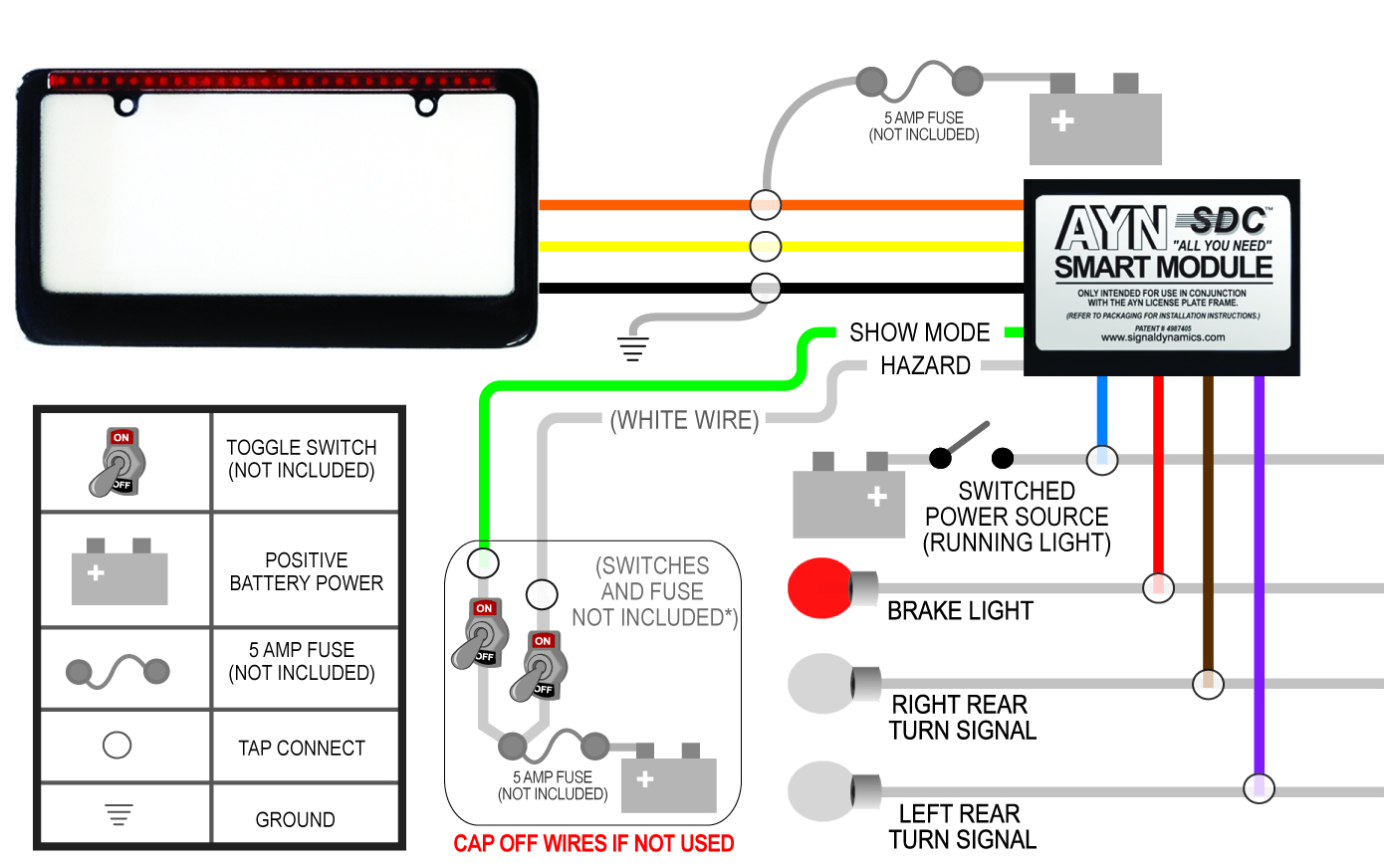 black auto wiring diagram?t=1399476781 black ayn automotive license plate frame & smart module combo Basic Turn Signal Wiring Diagram at gsmx.co