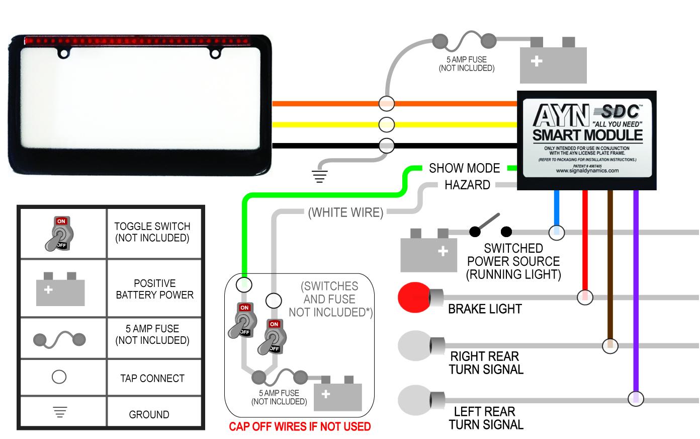 black auto wiring diagram?t=1399476781 black ayn automotive license plate frame & smart module combo Basic Turn Signal Wiring Diagram at sewacar.co