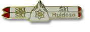 Ruidoso Double Skis Ski Resort Pin