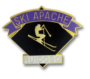 Ski Apache Black Diamond Ski Resort Pin