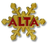Alta Gold Snowflake Ski Resort Pin