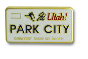 Park City Plate Ski Resort Pin