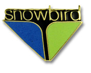Logo Snowbird Ski Resort Pin