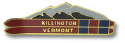 Killington Double Skis Ski Resort Pin