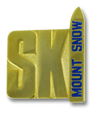 Mount Snow Gold Ski Resort Pin