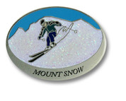 Mount Snow Oval Ski Resort Pin