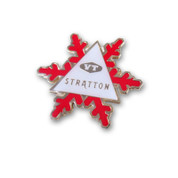 Stratton Snowflake Ski Resort Pin