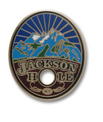 "Jackson Hole ""Hole"" Ski Resort Pin"