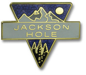 Jackson Hole Triangle Ski Resort Pin
