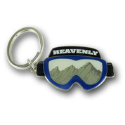 Heavenly Goggles Ski Resort Keychain Front
