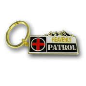 Heavenly Ski Patrol Ski Resort Keychain Front