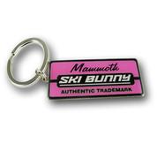 Mammoth Pink Ski Resort Keychain Front