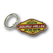 "Squaw ""Life is Fun"" Valley Keychain Front"