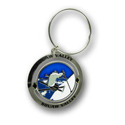 Squaw Valley Skier Keychain Front