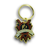 Arapahoe Basin Cross Skis Ski Resort Keychain Front