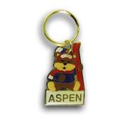 Aspen Bear Ski Resort Keychain Front