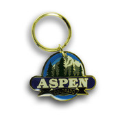 Aspen Blue Ski Resort Keychain Front