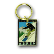Aspen Board Ski Resort Keychain Front