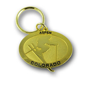 Aspen Gold Ski Resort Keychain Front