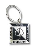 Aspen Square Ski Resort Keychain Front