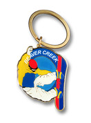 Beaver Creek Board Ski Resort Keychain Front