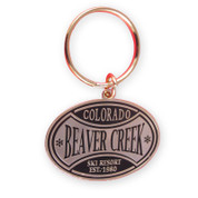 Beaver Creek Oval Ski Resort Keychain