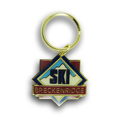 Breckenridge Diamond Ski Resort Keychain Front
