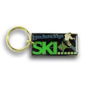 Breckenridge Downhill Skier Ski resort Keychain Front