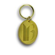 Breckenridge Logo Gold Ski Resort Keychain Front