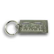 Breckenridge Mountain Range Ski Resort Keychain