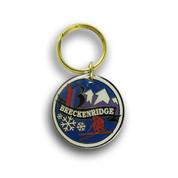 Breckenridge Round Ski Resort Keychain Front