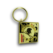 Breckenridge Square Ski Resort Keychain Front