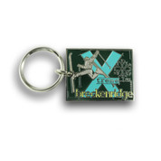 Breckenridge Square X-Treme Ski Resort Keychain