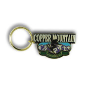 Copper Airborne Ski Resort Keychain Front