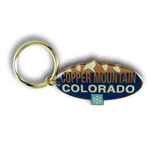 Copper Oval Mountain Keychain Front