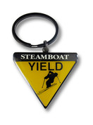 "Steamboat ""Yield"" Keychain Front"