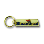 Steamboat Logo Keychain Front