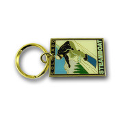Steamboat Snowboarder Keychain Front