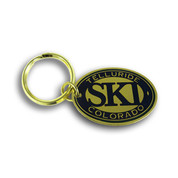Telluride Oval Keychain Front