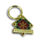 Telluride Snowflake Keychain Front
