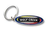 Wolf Creek Snowboard Keychain Front