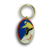 Vail Oval Keychain Front