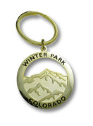 Winter Park Gold Color Keychain