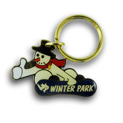 Winter Park Snowboarding Keychain Front