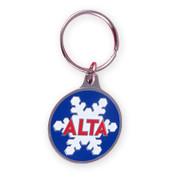 Alta Round Ski Resort Keychain